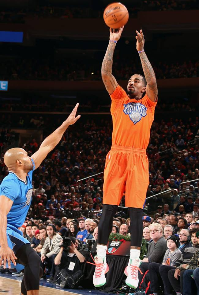 cheap for discount 87088 a3978 ... jr smith in christmas nike hyperdunk 2013 pe .