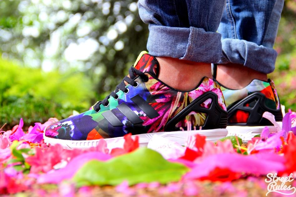 Adidas Zx Flux Floral Ebay