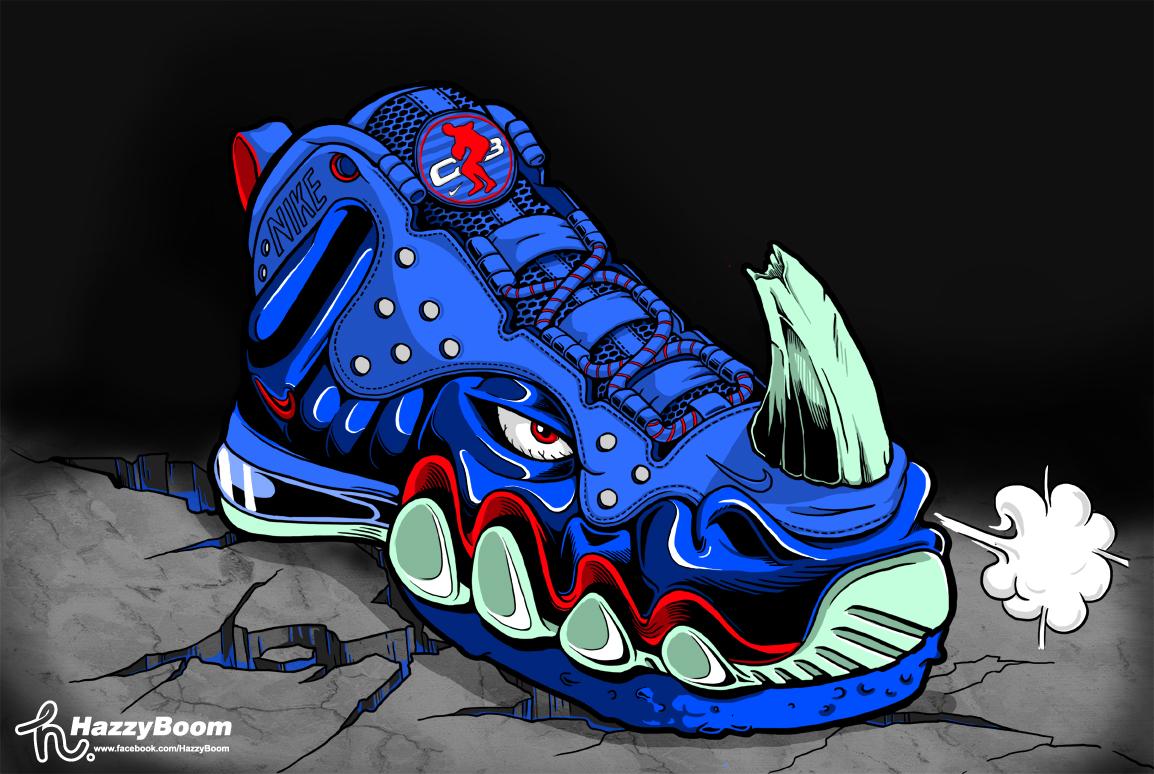 创意鞋子手绘插画
