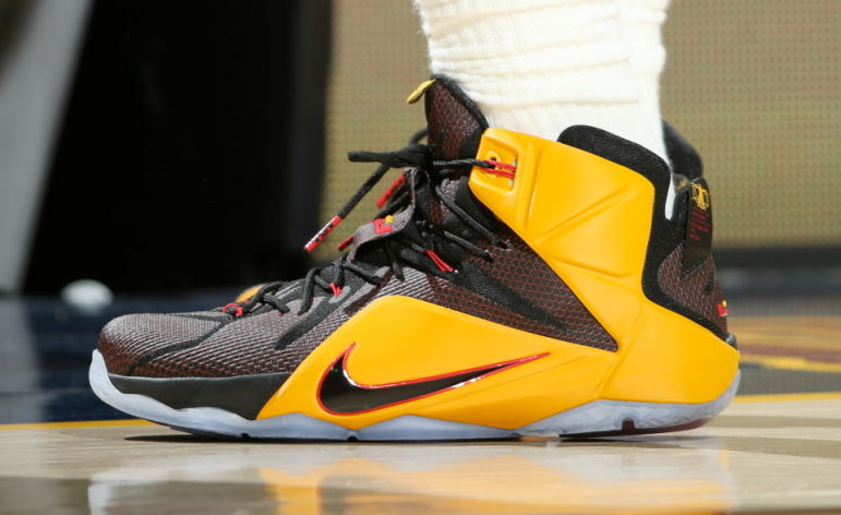 best website 5c2a9 7b84c lebron-james-nike-lebron-xii-12-black-yellow-red-pe-triple ...