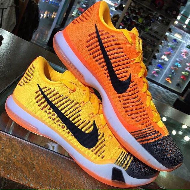 outlet store d727c ed24b ... orange purple  nike kobe 10 orange yellow . ...