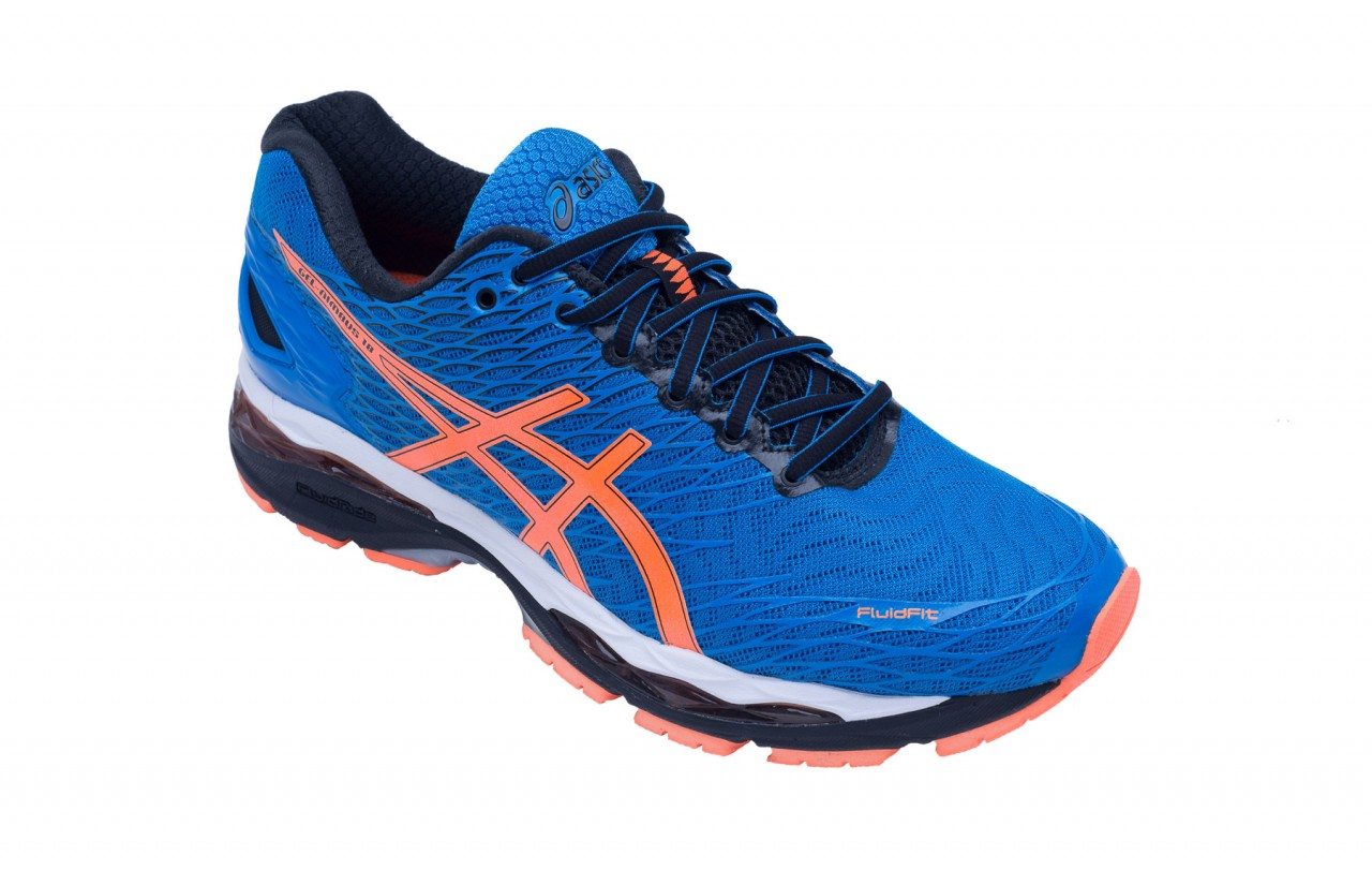 gel nimbus 18 running trainers blue asics la redoute. Black Bedroom Furniture Sets. Home Design Ideas