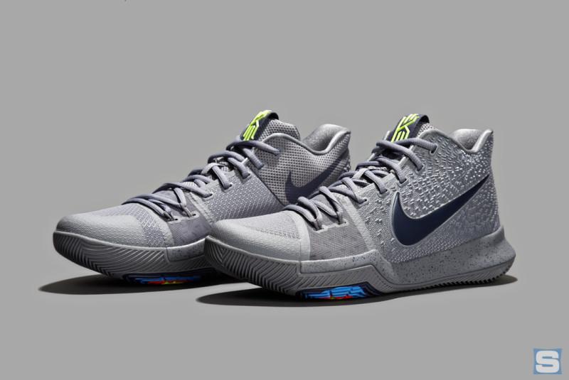 新聞分享 Uconn 女籃 91 連勝紀念同款樣式 Nike Kyrie 3 Grey 傳出發售消息