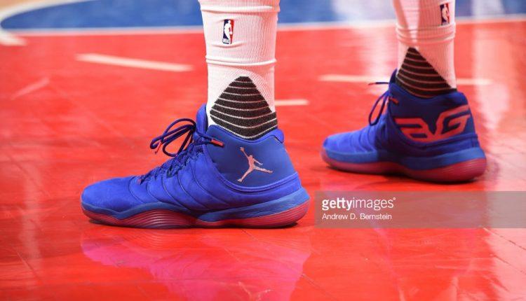 選手實著 / Blake Griffin 著用可能為 Jordan Super.Fly 6 的新戰靴