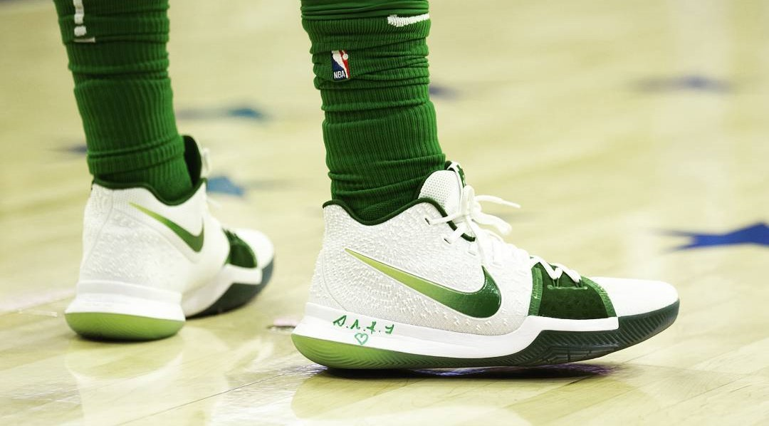 huge selection of f5bcf 442b6 新聞分享/ Nike Kyrie 3 'Boston Celtics' PE 細節賞析– KENLU.net