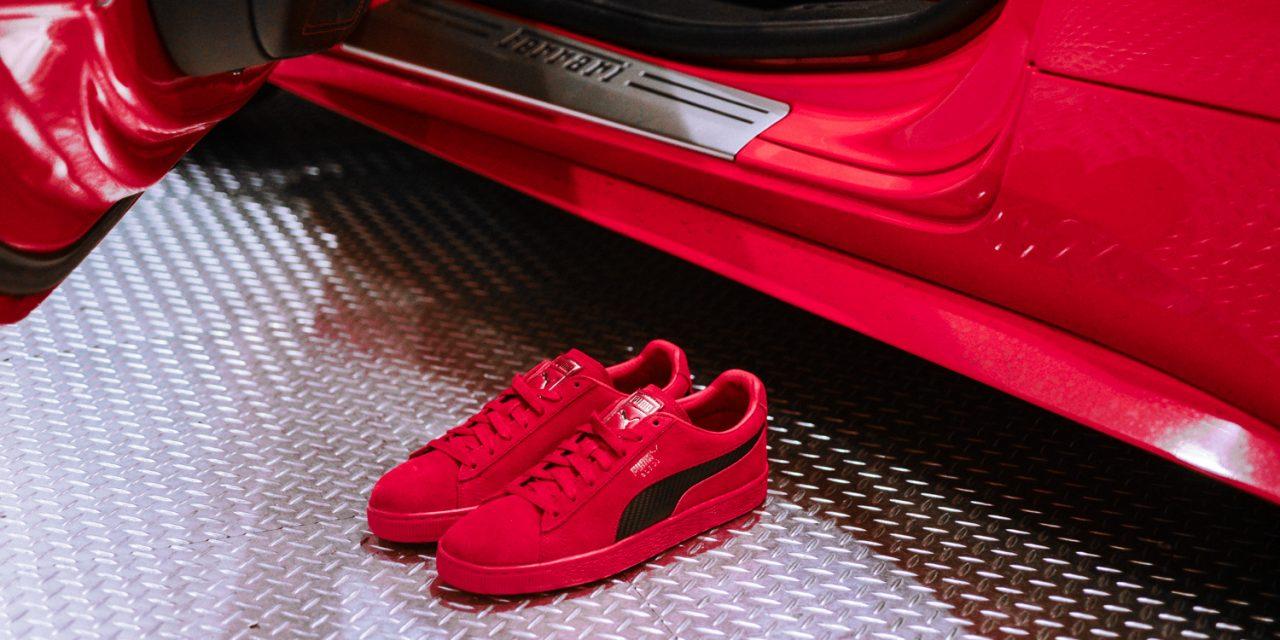 wholesale dealer 18548 54794 勘履訪客/ 穿在腳上的烈紅鬃馬Ferrari x PUMA SF Suede 50 ...