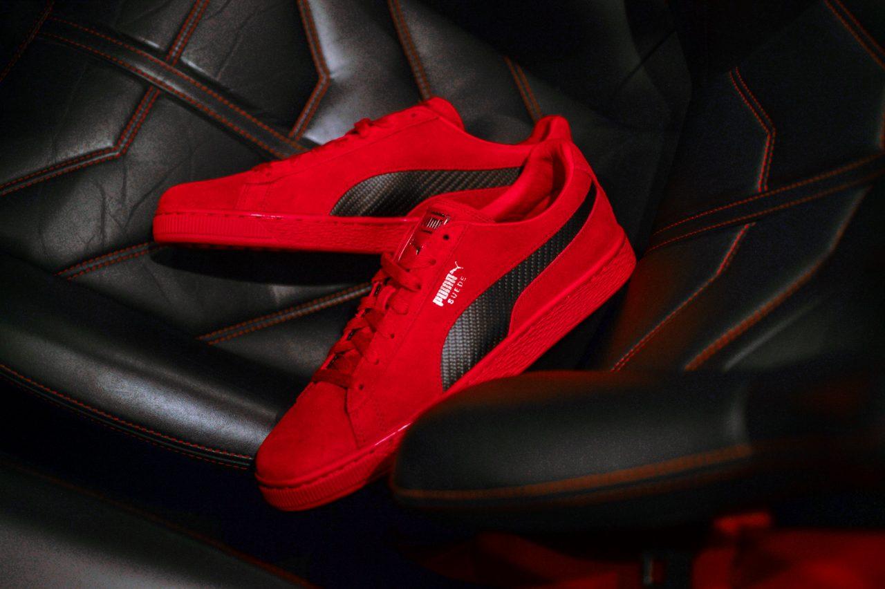 wholesale dealer 68faa 0e956 勘履訪客/ 穿在腳上的烈紅鬃馬Ferrari x PUMA SF Suede 50 ...