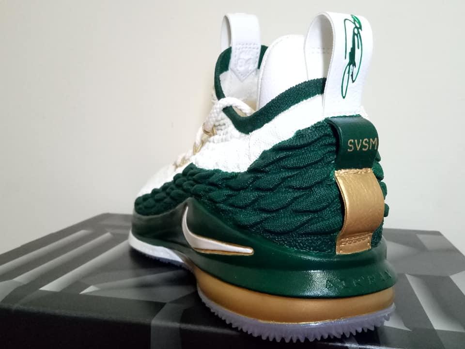 online store 57daa fa66d Nike LeBron 15 AZG SVSM 1st Game Custom by kenny custom ...
