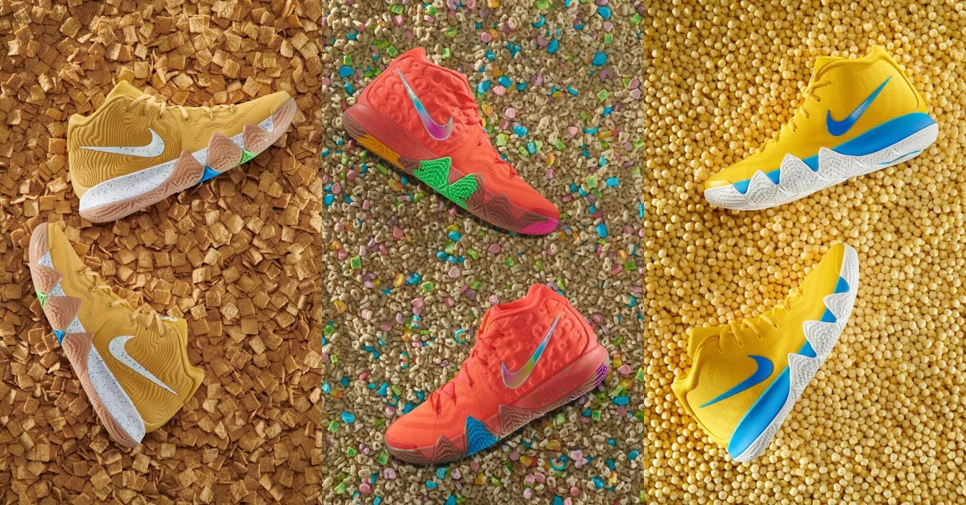 timeless design e0752 03fc8 新聞分享/ Nike Kyrie 4 'Cereal' Pack 可不只是代表早餐營養穀 ...