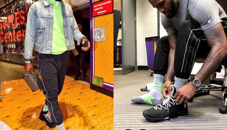 Nike LeBron 15 Air Jordan 5 (2)