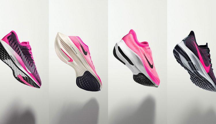 nike running neon pink pack