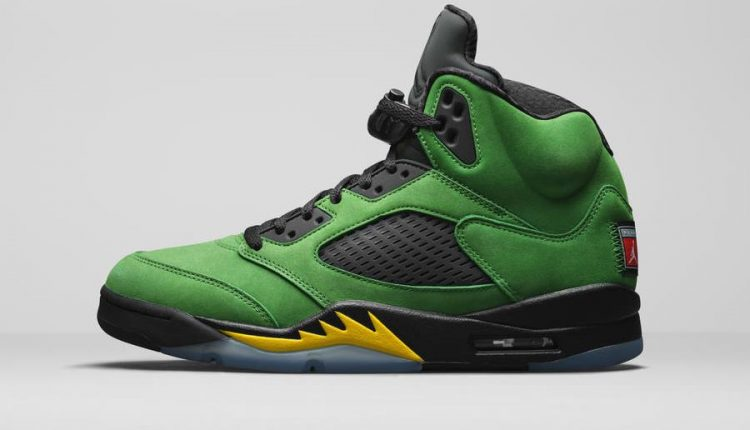 Air Jordan 5 all green premium suede upper