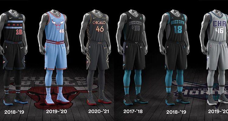 Chicago Bulls Charlotte Hornets City Edition Uniforms-4