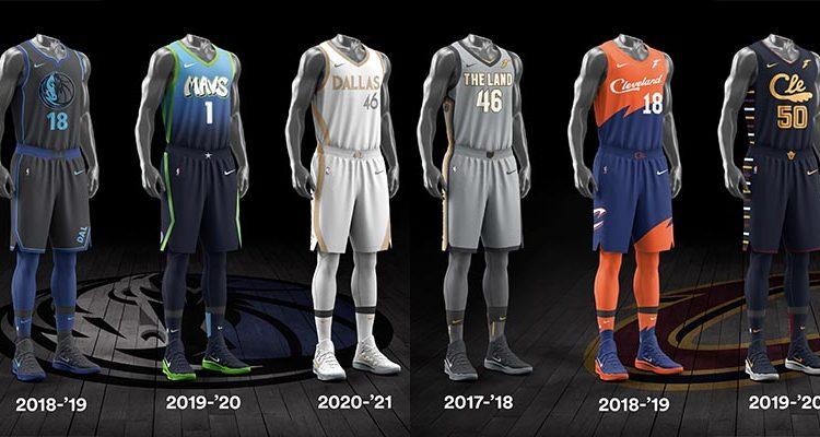 Dallas Mavericks Cleveland Cavaliers City Edition Uniforms-3