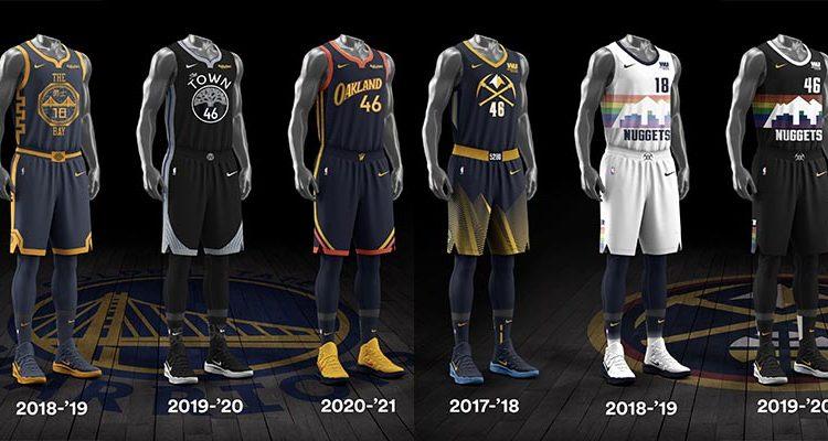 Golden State Warriors Denver Nuggets City Edition Uniforms-5