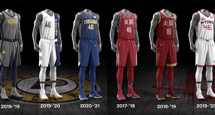 Indiana Pacers Houston Rockets City Edition Uniforms-6