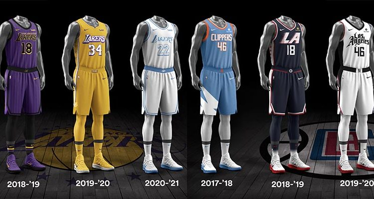 Los Angeles Lakers Los Angeles Clippers City Edition Uniforms-7