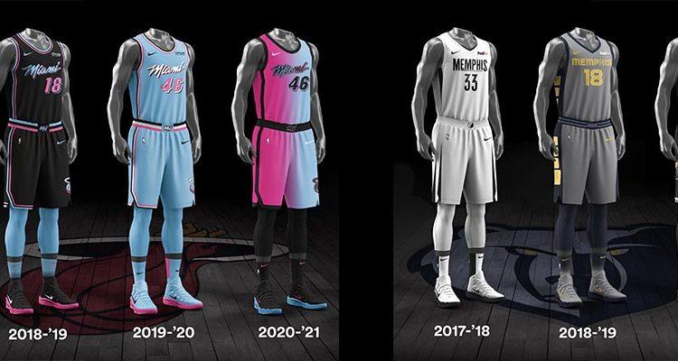 Miami Heat Memphis Grizzlies City Edition Uniforms-8