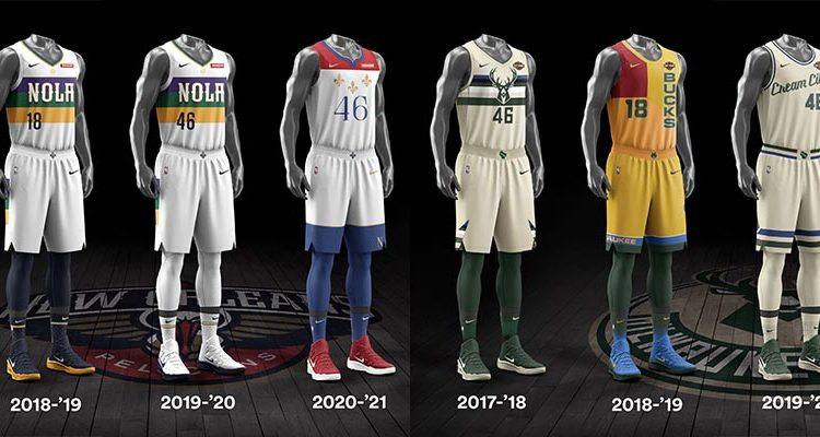 New Orleans Pelicans Milwaukee Bucks City Edition Uniforms-9