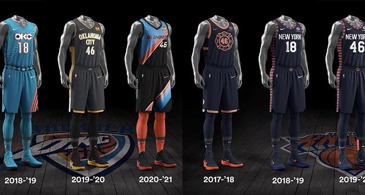 Oklahoma City Thunder New York Knicks City Edition Uniforms-14