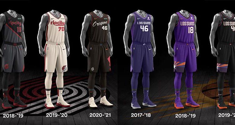 Portland Trail Blazers Phoenix Suns City Edition Uniforms-12