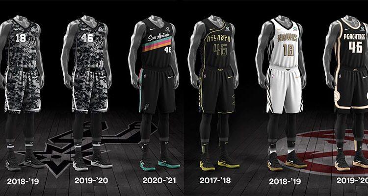 San Antonio Spurs Atlanta Hawks City Edition Uniforms-1