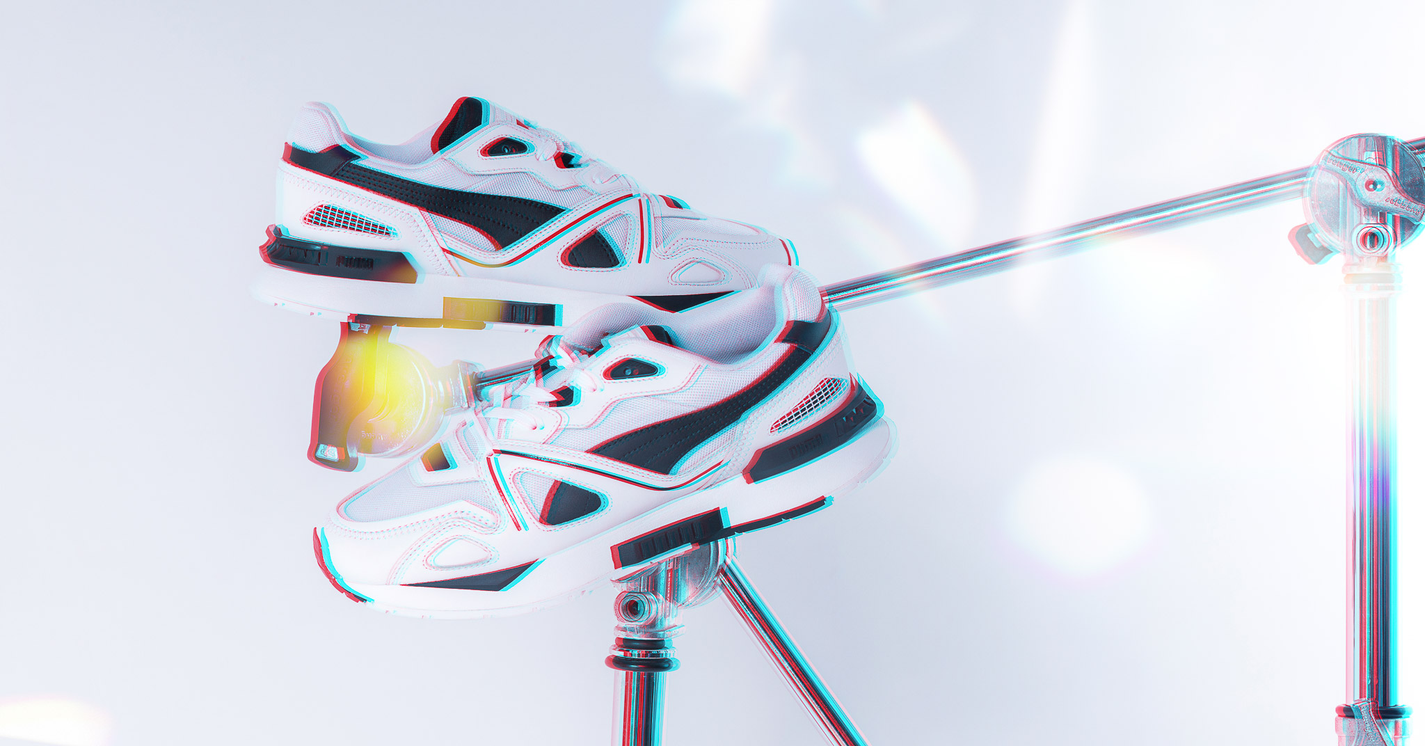 Puma Mirage Mox white black1